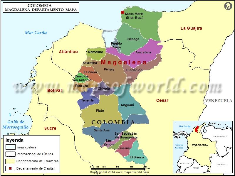 Mapa de Magdalena