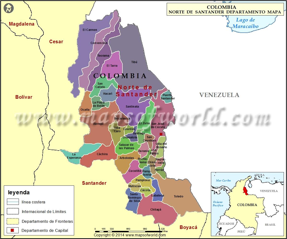 Mapa de Norte de Santander