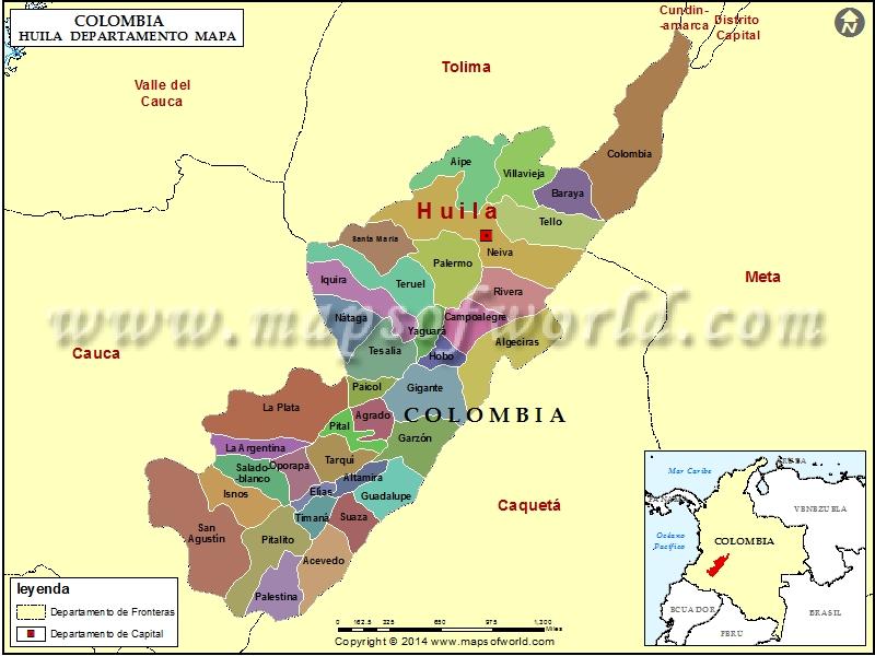 Mapa del Huila