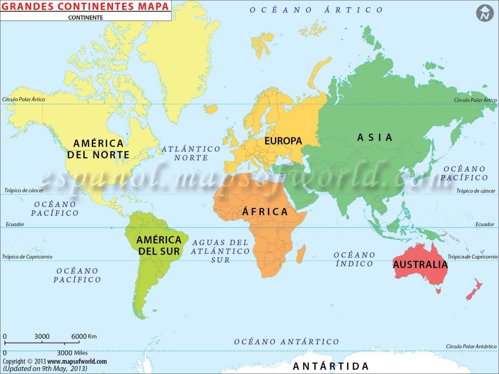 Grandes Continentes Mapa