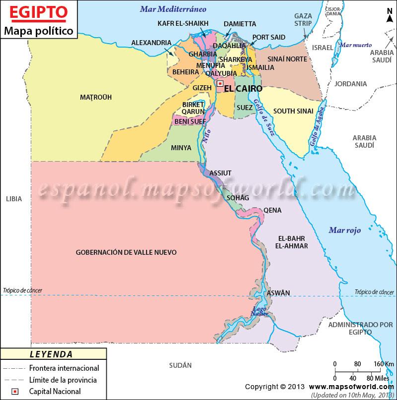 Mapa De Egipto Egipto Mapa