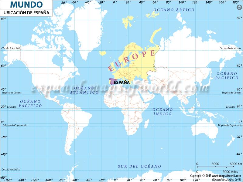 Mapa de Ubicacion de Espana
