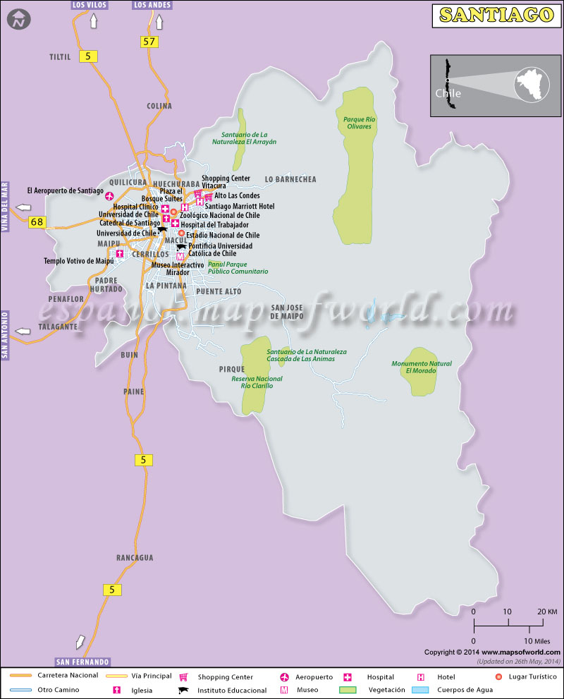 Mapa de Santiago