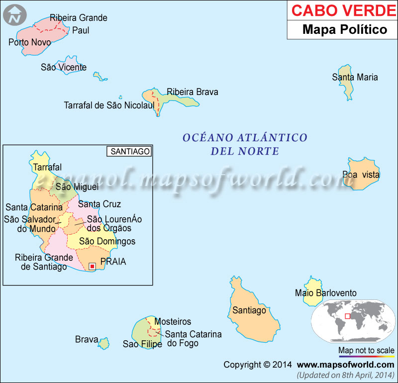 Cabo Verde Mapa