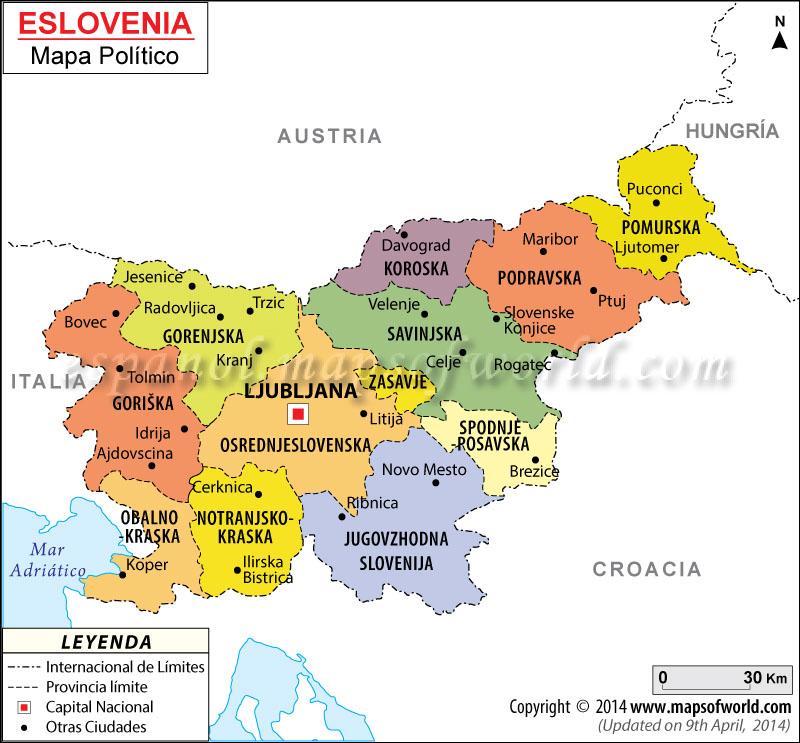 Eslovenia Mapa