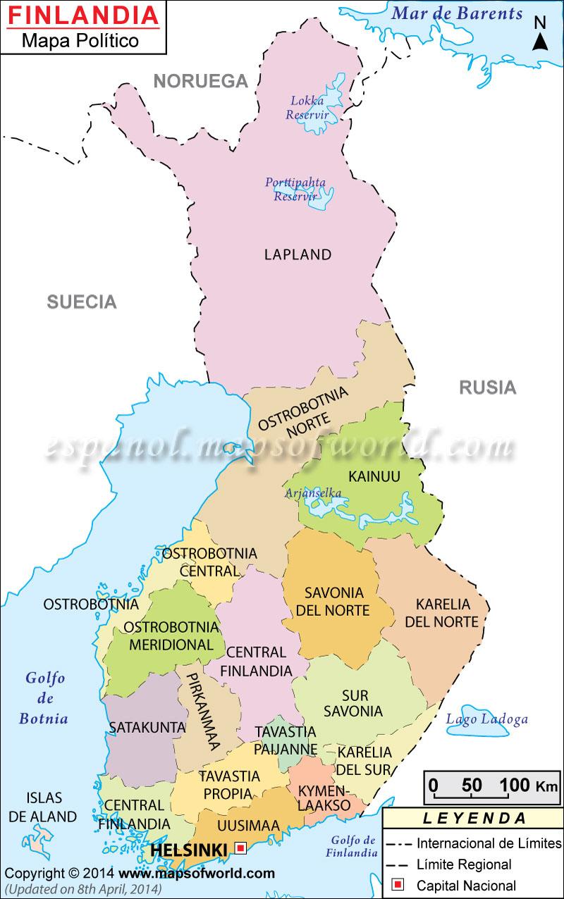 Finlandia Mapa