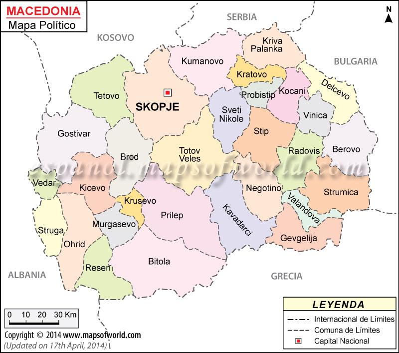 mapa da macedonia Macedonia Mapa , Mapa de Macedonia mapa da macedonia