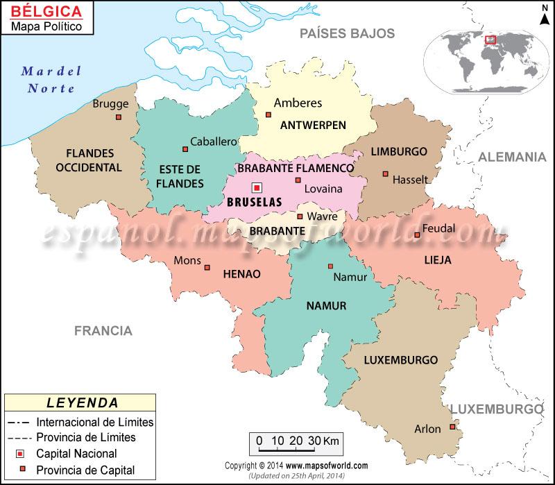 Mapa Belgica