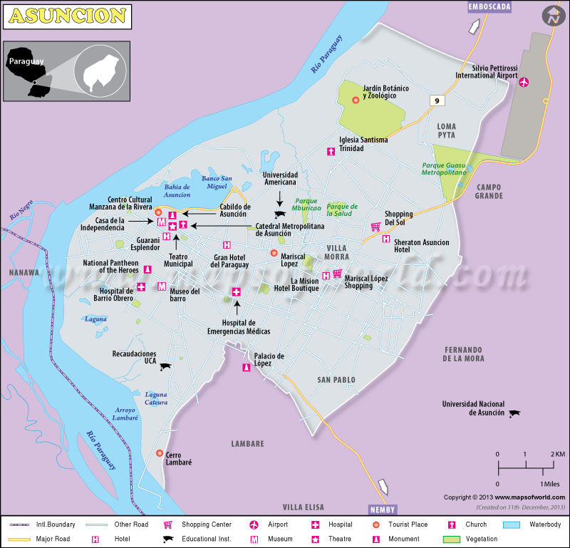 Mapa de Asuncion
