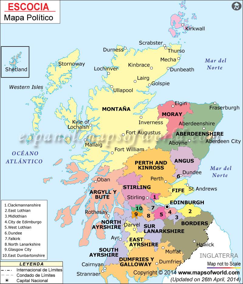 Escocia Mapa