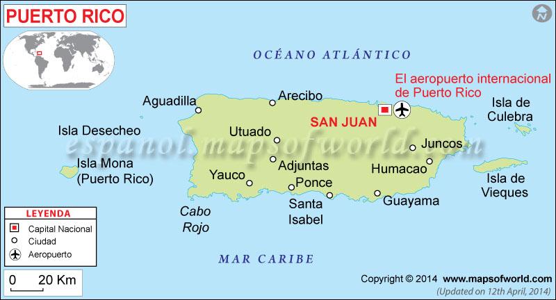 Puerto Rico Mapa Mundi.Mapa De Puerto Rico