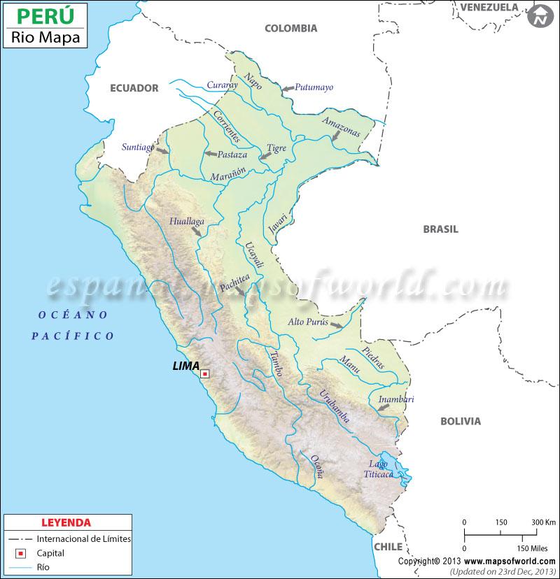 Mapa de Rios del Peru