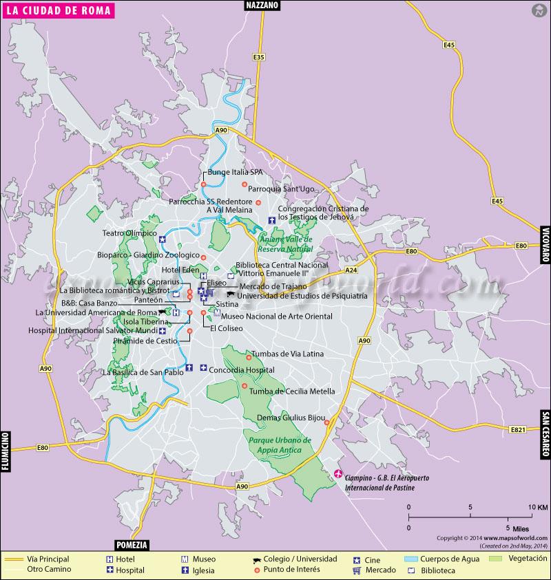 Mapa de Roma