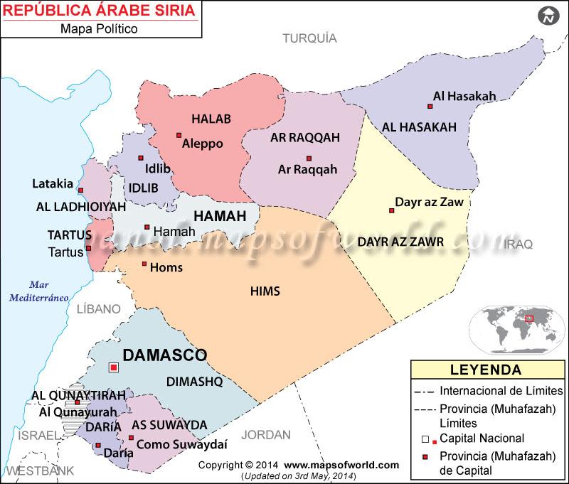 Siria Mapa