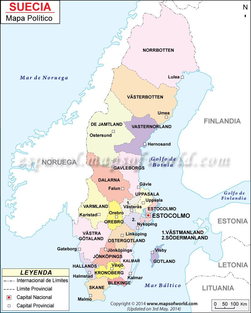 suecia mapa Mapa de Suecia suecia mapa