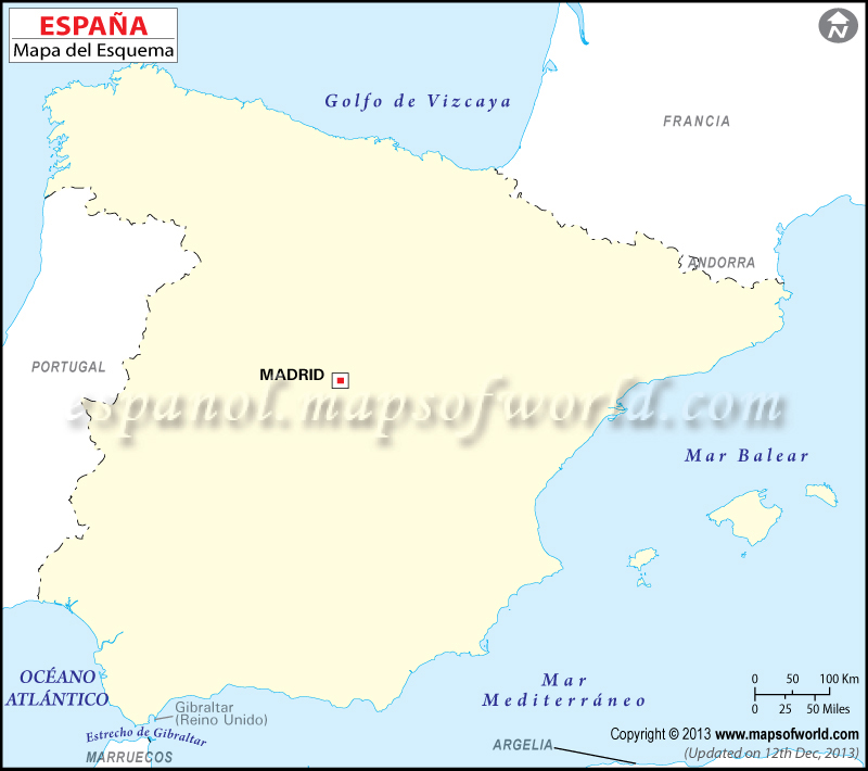 Mapa en Blanco de Espana