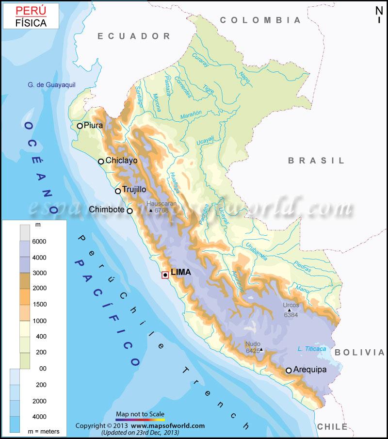 Mapa Fisico del Peru