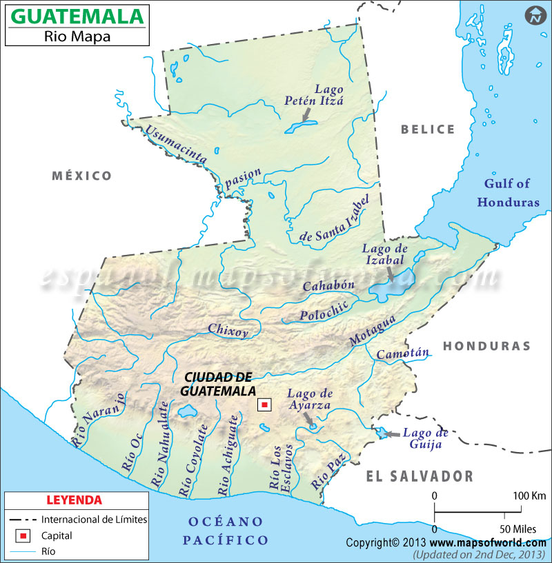 Rios de Guatemala Mapa