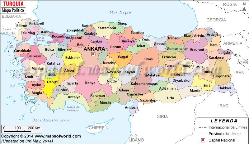 Turquia Mapa
