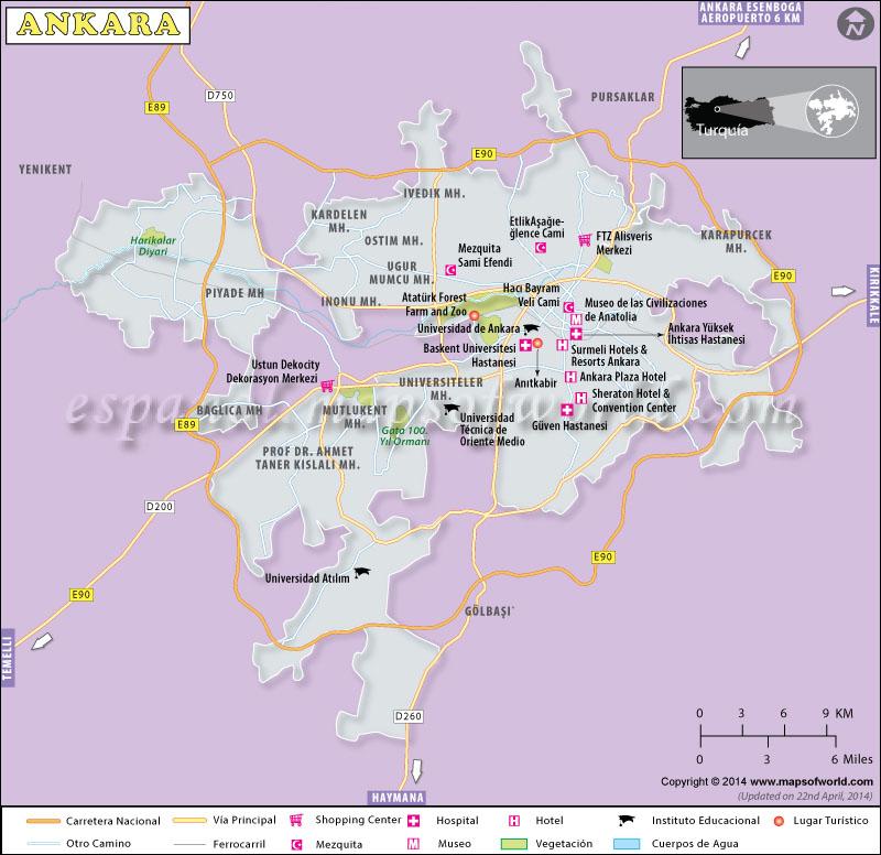 Ankara Mapa