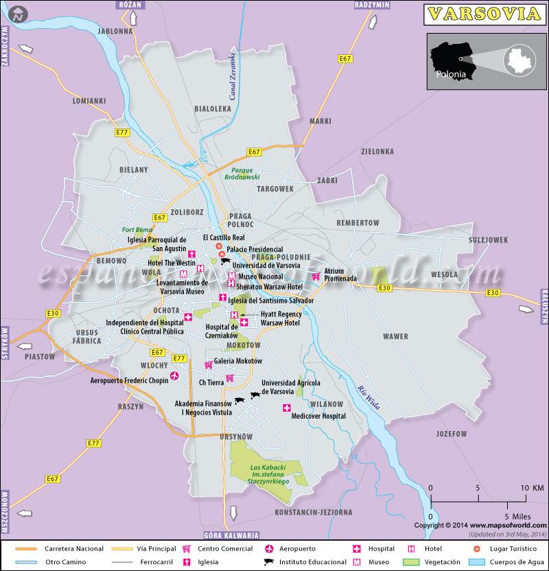 Varsovia Mapa