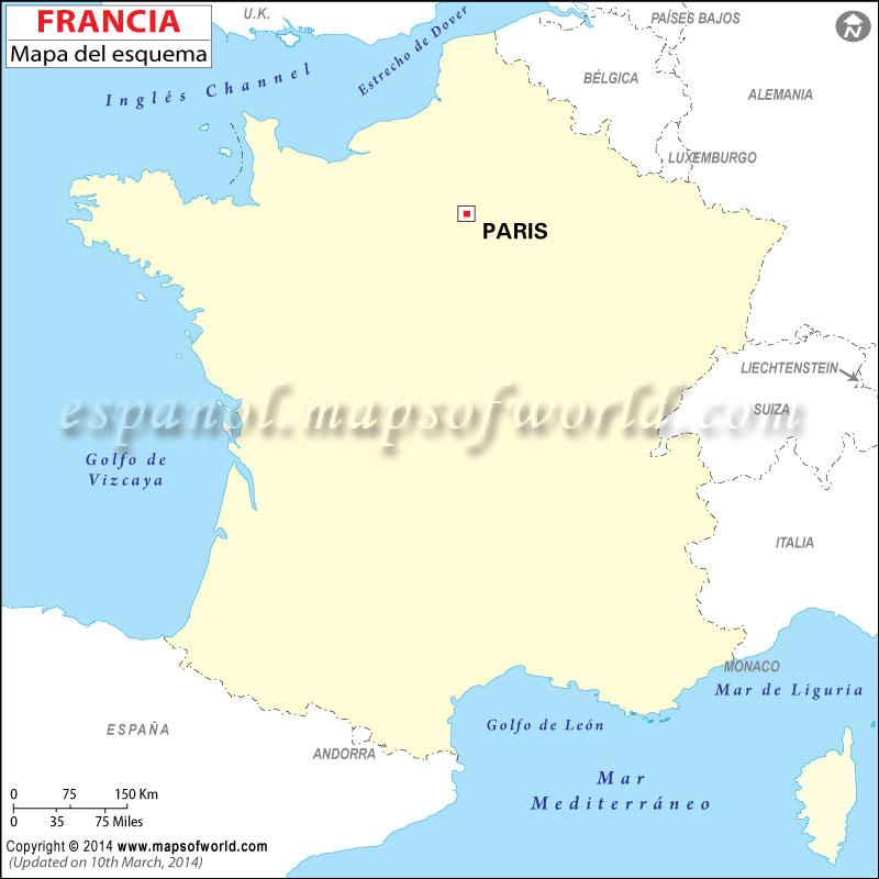 Esquema del Mapa de Francia