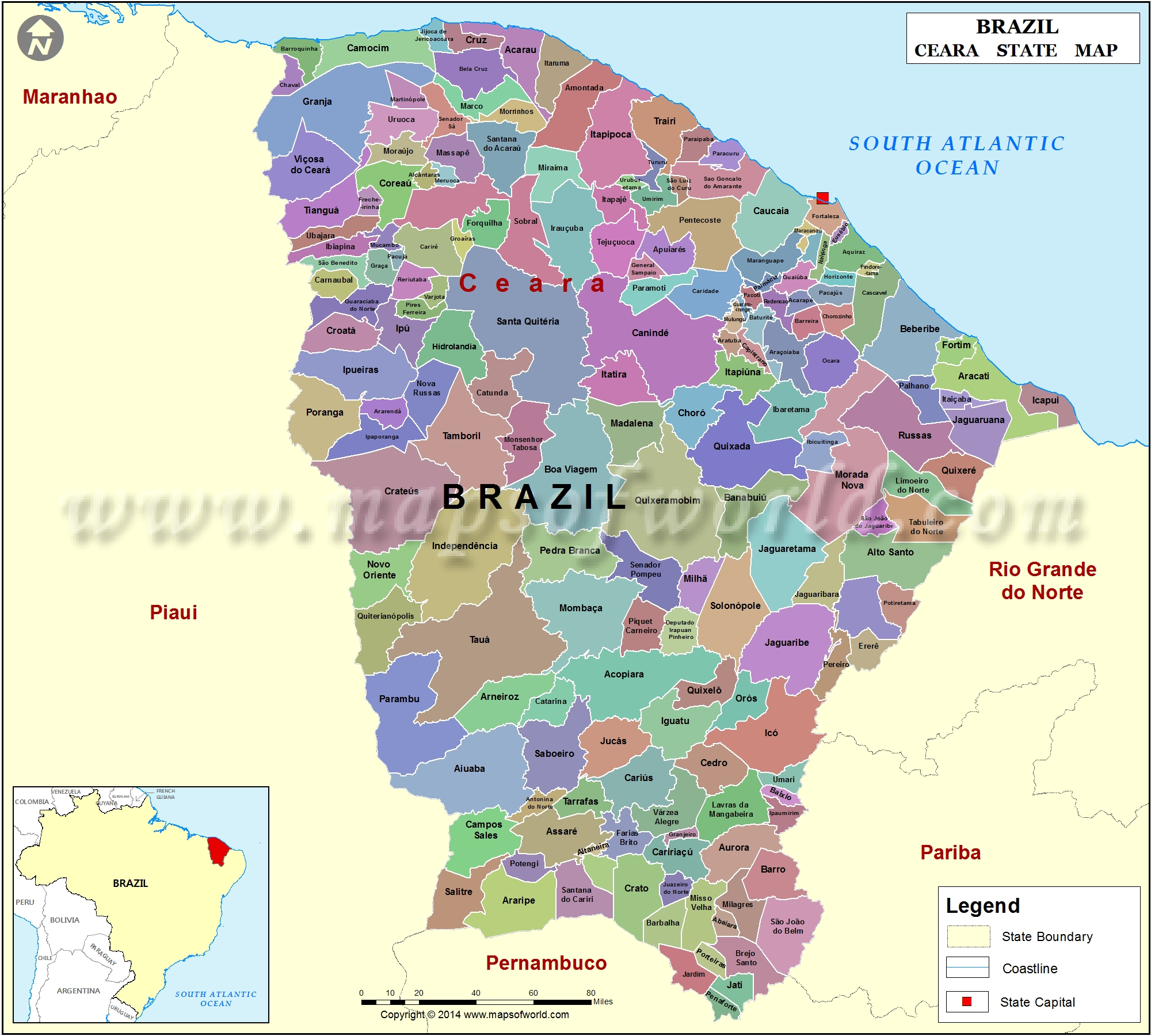 Mapa Ceara