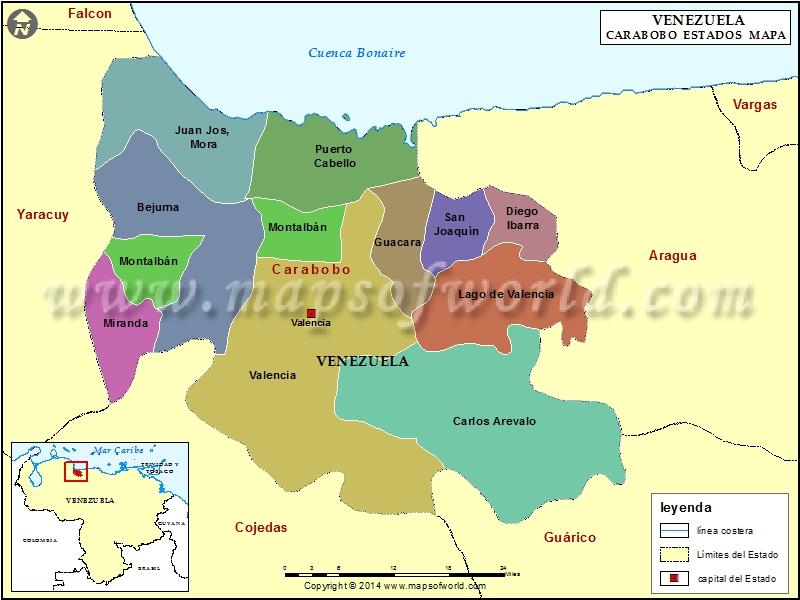 Mapa del Estado Carabobo