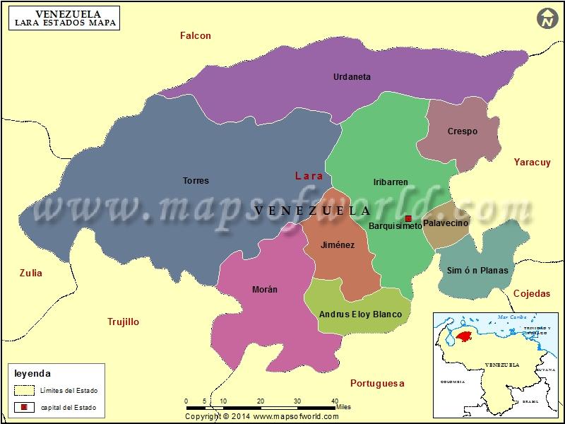 Mapa del Estado Lara
