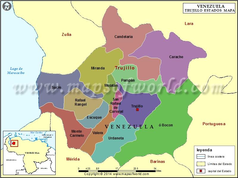 Mapa del Estado Trujillo