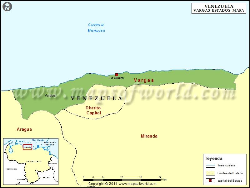 Mapa del Estado Vargas