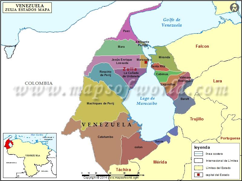 Mapa del Estado Zulia