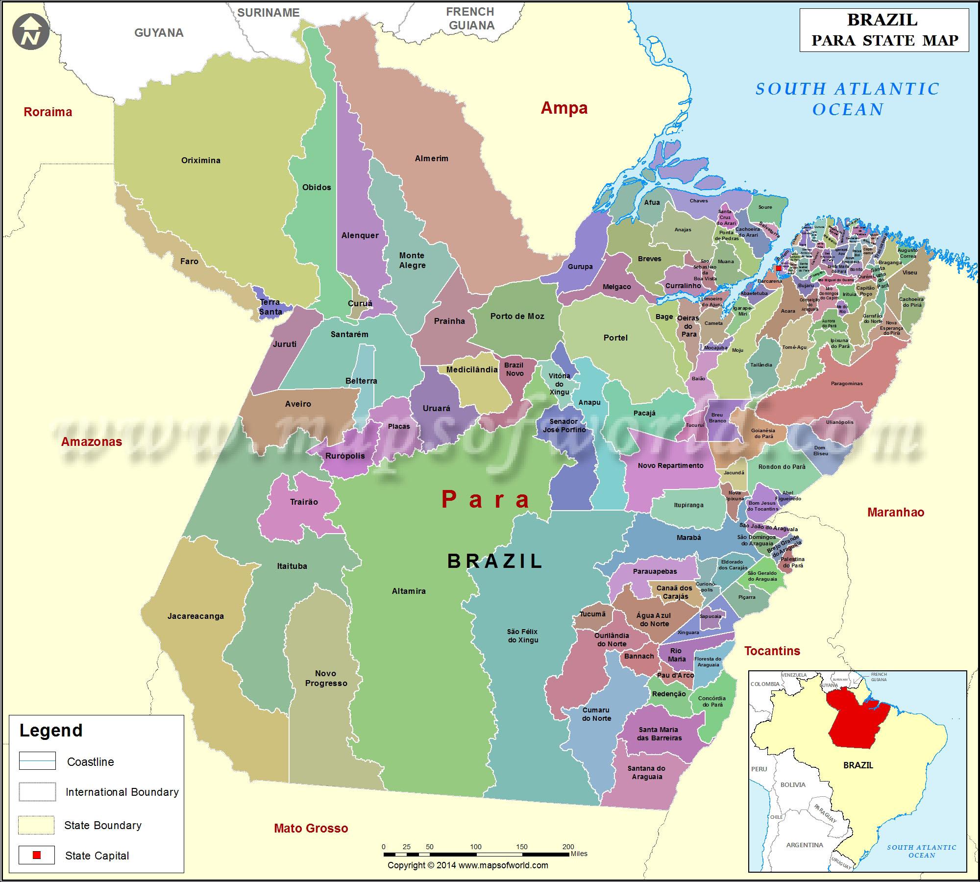Mapa Para