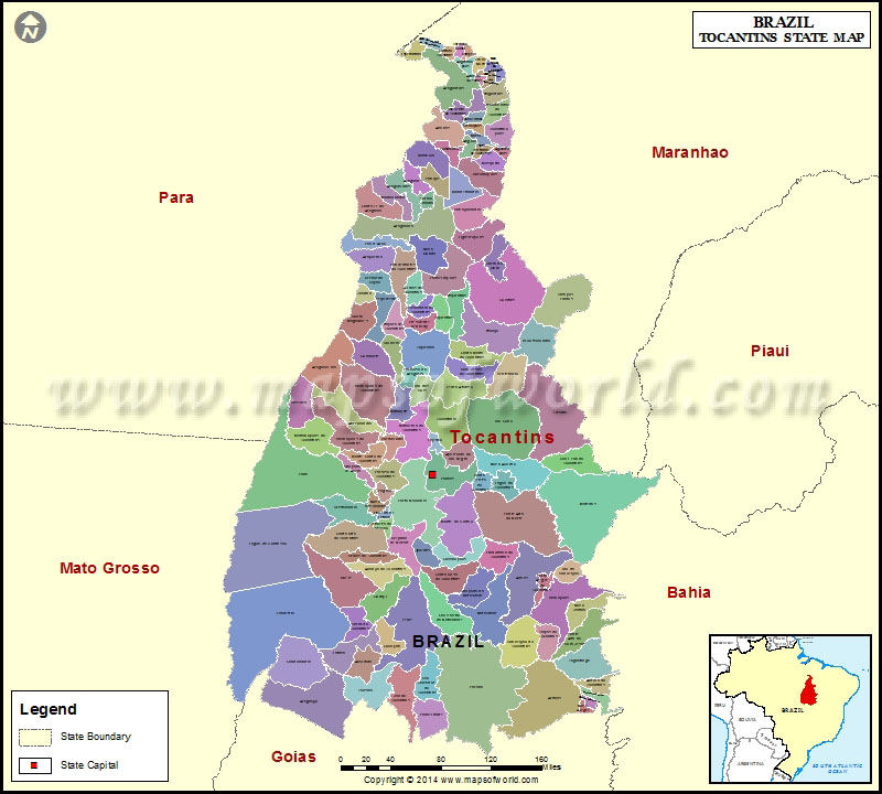 Mapa Tocantins