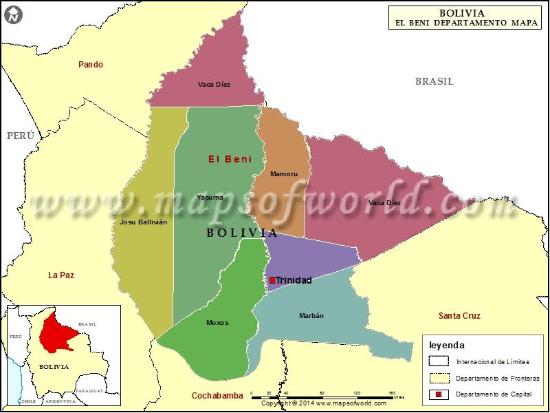 Departamento Mapa de Beni