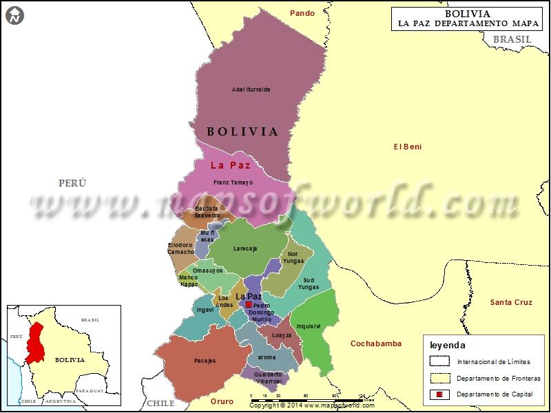 Departamento Mapa de La Paz