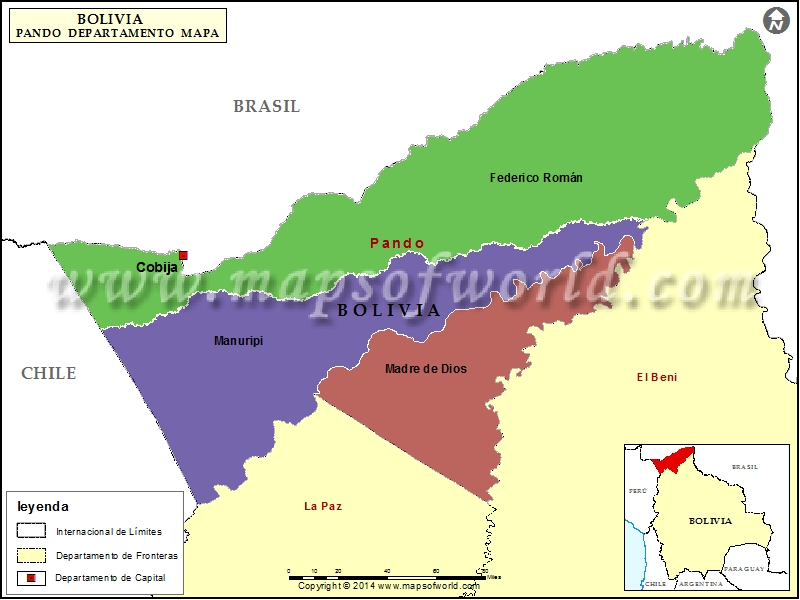 Departamento Mapa de Pando