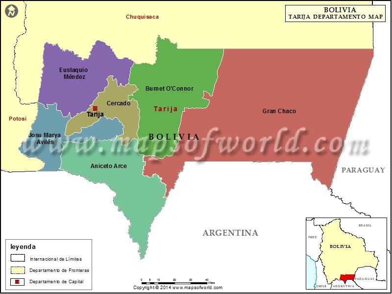 Departamento Mapa de Tarija