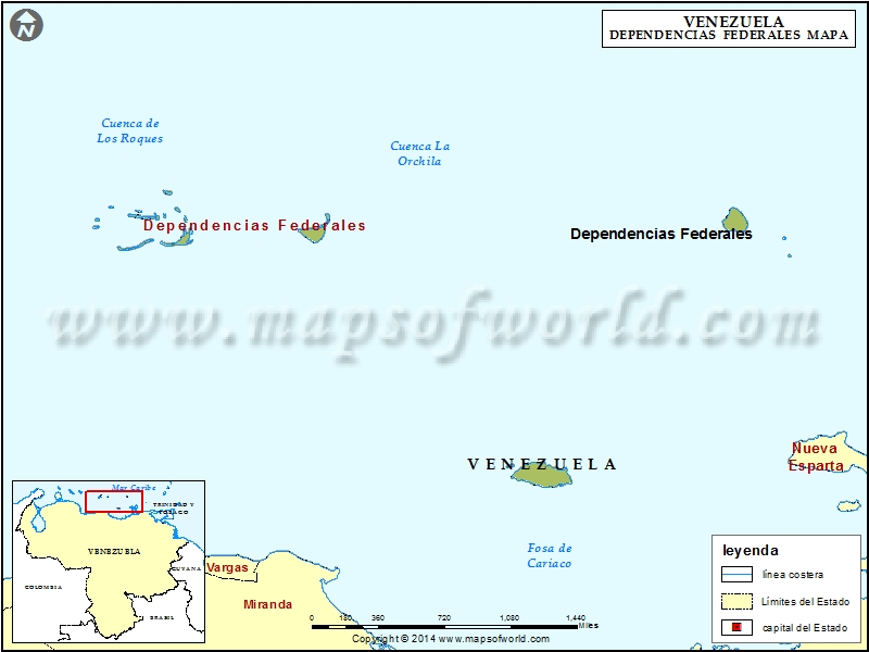 Mapa de Dependencias Federales