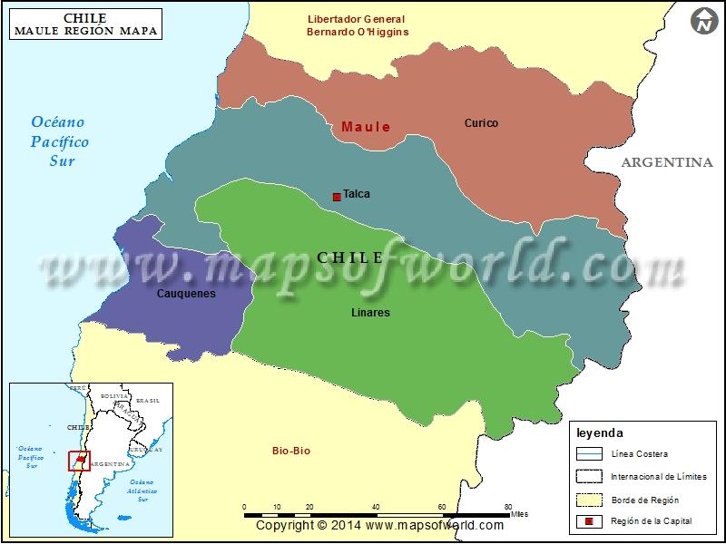 Mapa de Maule