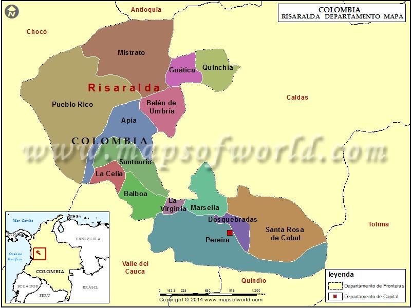 Mapa de Risaralda