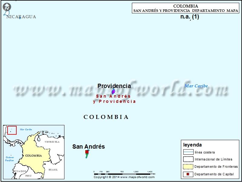 Mapa de San Andres y Providencia