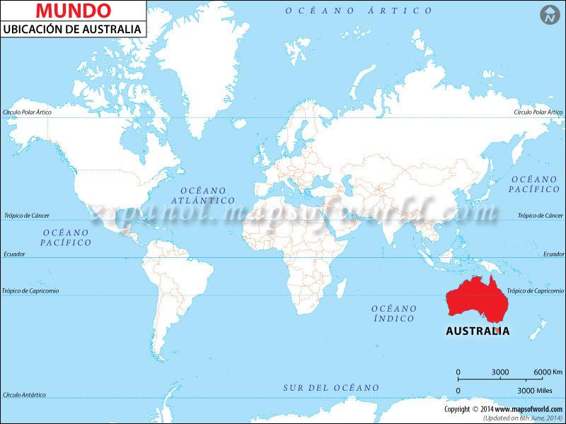 Mapa de Ubicacion de Australia