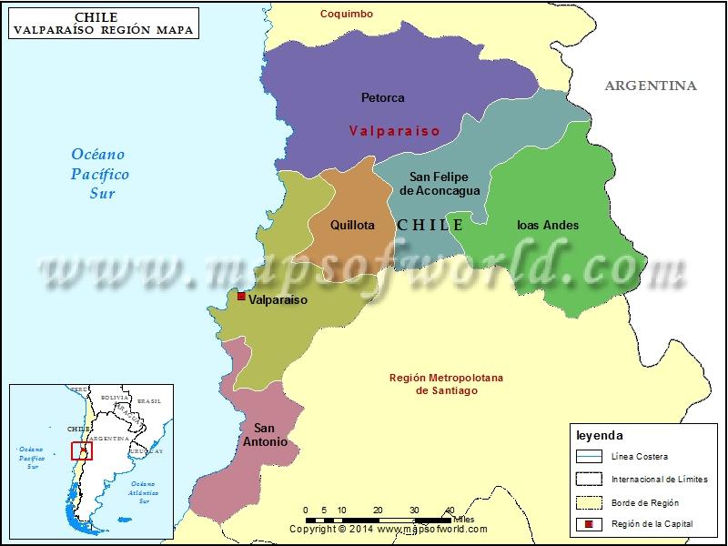 Mapa de Valparaiso