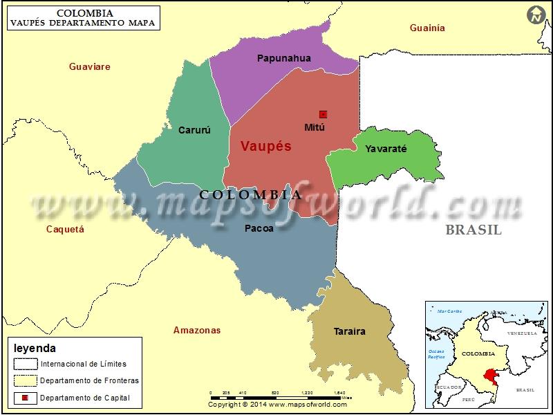 Mapa de Vaupes