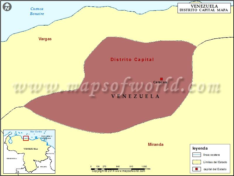 Mapa Distrito Capital