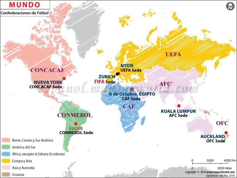 Mapa Federacion de Futbol