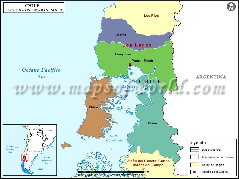 Mapa Region de Los Lagos