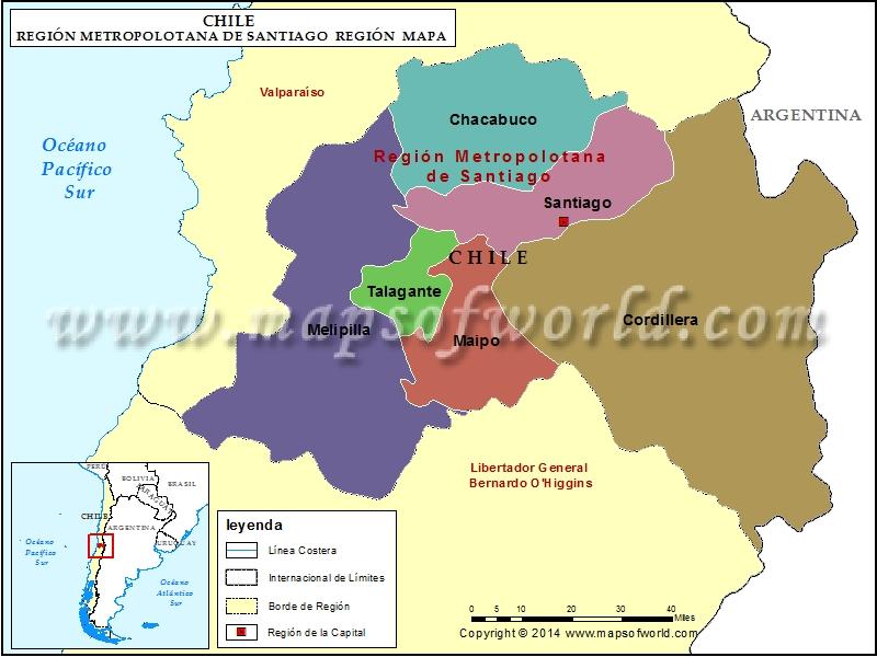 Mapa Region de Santiago