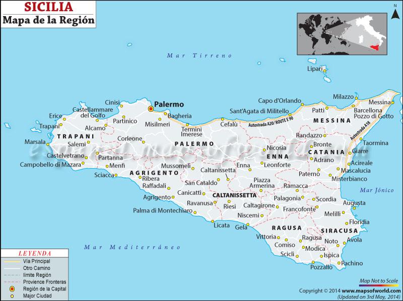 Sicilia Mapa